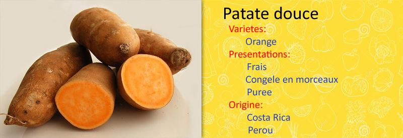 patate douce origine